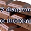 7 Фактов про шоколад